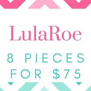 LulaRoe Lot of 8 Items